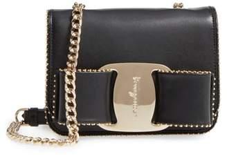 Salvatore Ferragamo Mini Vara Studded Leather Shoulder Bag