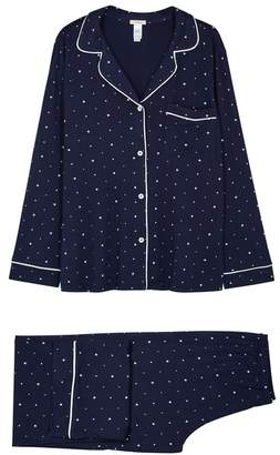 Eberjey Sleep Chic Printed Jersey Pyjama Set