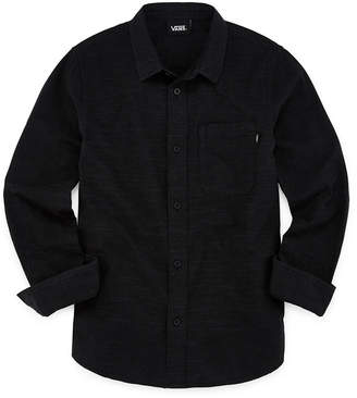 Vans Boys Long Sleeve Button-Front Shirt Preschool / Big Kid