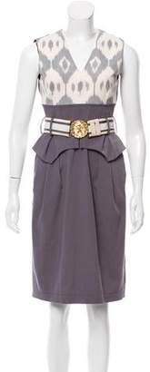 Altuzarra Belted A-Line Dress