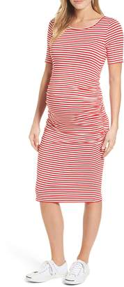Isabella Oliver Jenna Stripe Maternity T-Shirt Dress