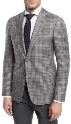 Emporio Armani Plaid Wool Sport Coat