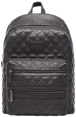 The Honest Company CITY BACKPACK DIAPER BAG, QUILTED BLACK