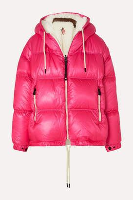 Moncler Hufi Reversible Faux Shearling-trimmed Quilted Down Ski Jacket - Pink