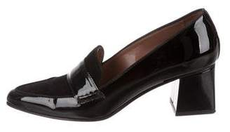 Tabitha Simmons Pointed-Toe Patent Leather Pumps