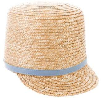 Karen Walker Buckle-Accented Straw Hat