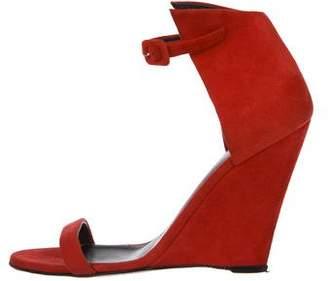 Giuseppe Zanotti Suede Wedge Sandals