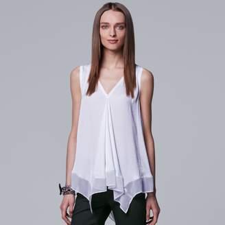 Vera Wang Women's Simply Vera Handkerchief Hem Tank