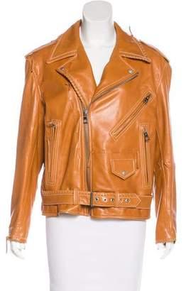 Loewe Biker Baseball Leather Jacket
