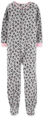 Carter's Carter Little & Big Girls Animal-Print Fleece Pajamas