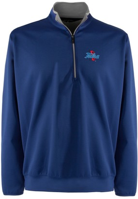 Antigua Men's Tulsa Golden Hurricane 1/4-Zip Leader Pullover