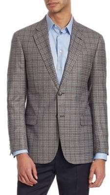 Giorgio Armani G Line Checked Wool Jacket