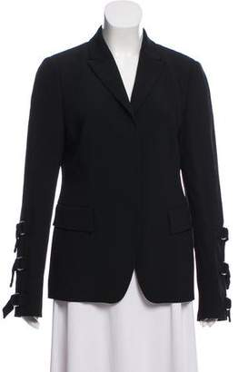 Ungaro Peak-Lapel D-Ring-Accented Blazer