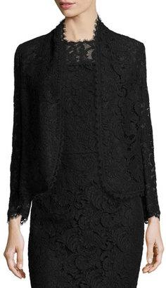 Escada Eve Lace 3/4-Sleeve Jacket, Black $1,695 thestylecure.com