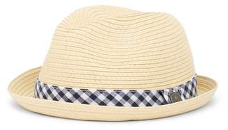 Nick Graham Gingham Straw Fedora