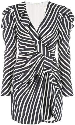 Jonathan Simkhai striped ruffle mini dress