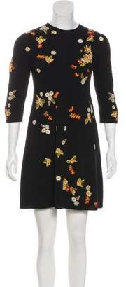 Christian Dior Embroidered Wool Dress