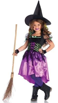 Leg Avenue Girls' 2PC.Spiderweb Witch Costume w/ High Low Dress and Hat