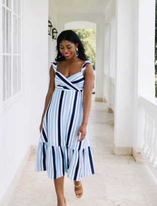 Draper James Stripe Midi Dress