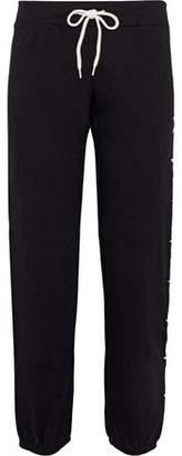 Monrow Embroidered Cotton-Fleece Track Pants