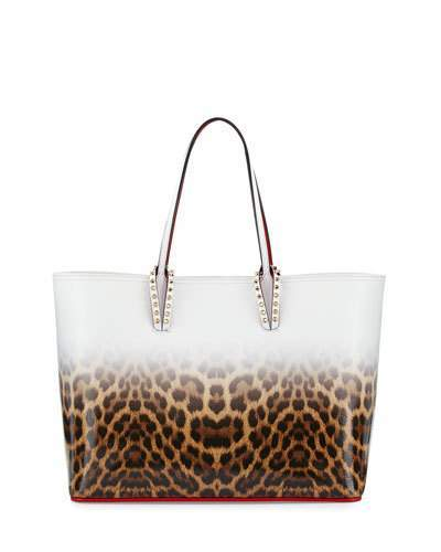 Christian Louboutin Christian Louboutin Cabata East-West Leather Leopard-Print Tote Bag, Multicolor