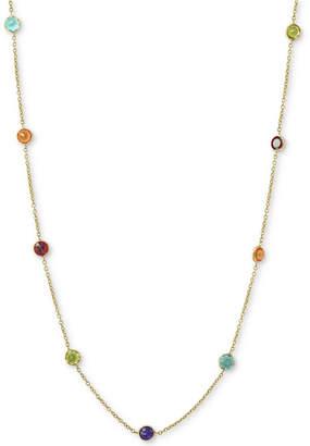 """Effy Multi-Gemstone 36"""" Statement Necklace (6-1/2 ct. t.w.) in 14k Gold"""