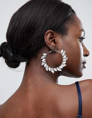 True Decadence Blush Embellished Hoop Earrings