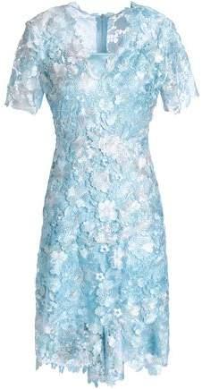 Appliquéd Macramé Dress