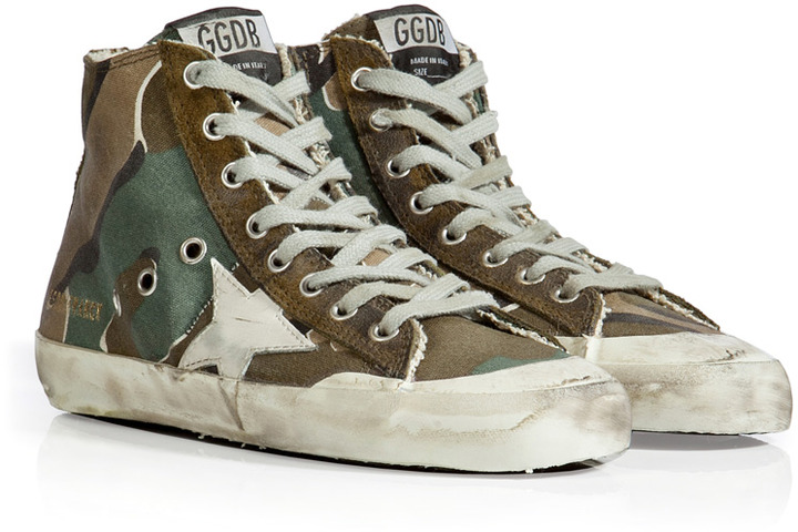Golden Goose Canvas Francy Sneakers in Camouflage