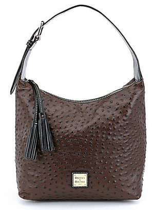 Dooney & Bourke Ostrich Collection Paige Tasseled Hobo Bag $248 thestylecure.com