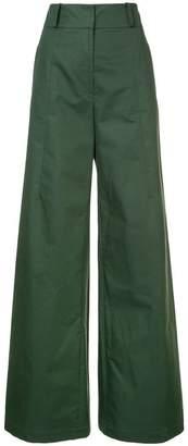 Oscar de la Renta wide leg high-waisted trousers