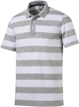 Men's Striped Pique Polo