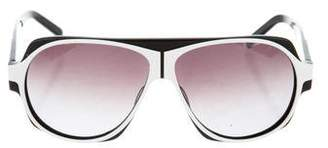 Christian Roth Gradient Aviator Sunglasses