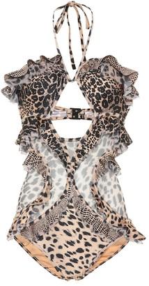 Zimmermann Allia leopard-print swimsuit