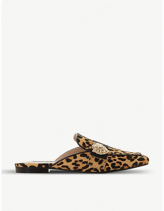 Steve Madden Karisma leopard-print backless loafers