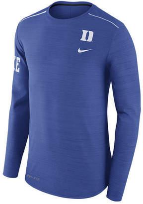 Nike Men's Duke Blue Devils Dri-Fit Breathe Long Sleeve T-Shirt