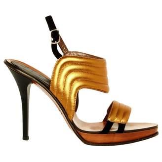 Marni Gold Leather High Heel