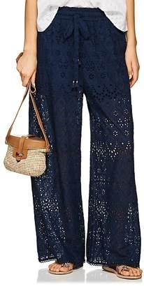 Zimmermann Women's Castile Cotton-Silk Eyelet Wide-Leg Pants