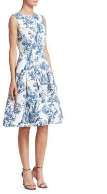 Oscar de la Renta Sleeveless Toile du Joie Skirt Dress