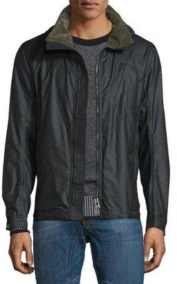 Belstaff Citymaster Waxed Cotton Jacket, Black $795 thestylecure.com