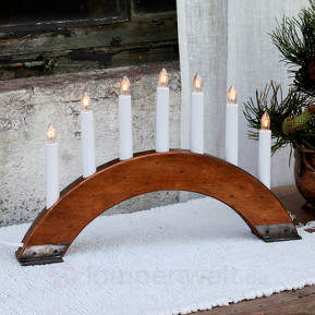 Rotbrauner Kerzenleuchter Viking Bow 7-flammig