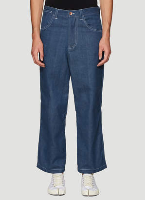 story. Mfg. American Jeans in Blue