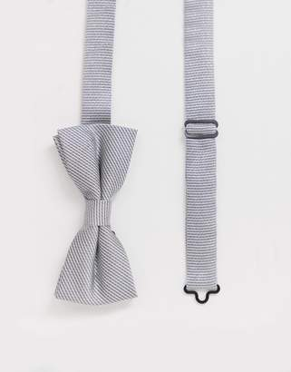 Twisted Tailor bow tie in silver