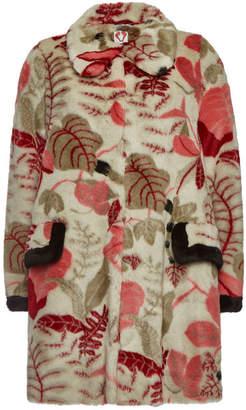 Shrimps Desmond Sand Faux Fur Printed Coat