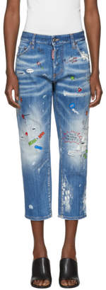 DSQUARED2 Blue Tomboy Jeans