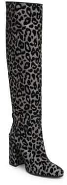 Dolce & Gabbana Leopard Block Heel Tall Boots