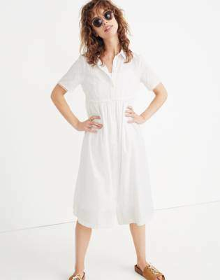 Madewell Clipdot Midi Shirtdress
