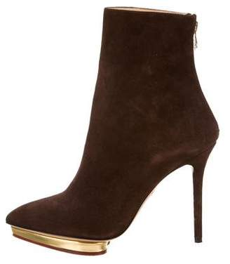 Charlotte Olympia Deborah Suede Ankle Boots