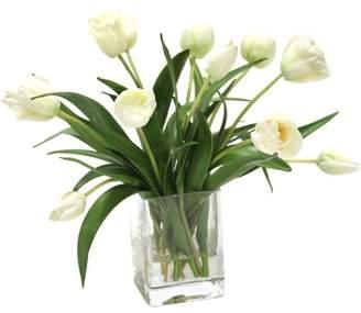 DAY Birger et Mikkelsen Distinctive Designs Waterlook Elegant Tulips Floral Arrangements in Glass Vase Flower