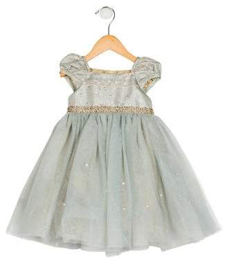 Biscotti Girls' Brocade Tulle Dress w/ Tags